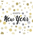 Happy New Year gold glittering lettering design vector image vector image
