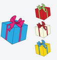 image of colored gift boxes vector image vector image