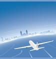 lima skyline flight destination vector image vector image