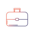 line business suitcase to save important document vector image