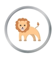 Lion cartoon icon for web and mobile vector image vector image