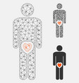 male genitals love mesh 2d model and vector image vector image