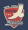 new york typography with eagle vector image vector image