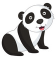 of cartoon panda vector image