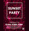 party poster template vector image vector image