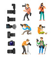 professional photographing gear flash lights set vector image vector image