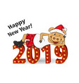reclining pig for new year vector image
