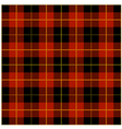 Red Tartan Plaid Design vector image vector image