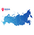 russia administrative map with borders regions vector image