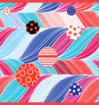 seamless color brightly wavy pattern vector image vector image