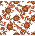 seamless pattern in traditional russian khokhloma vector image vector image