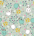 seamless pattern with sheep vector image vector image