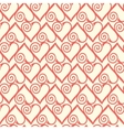 Seamless pattern with stylized hearts Romantic vector image