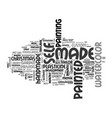 self-made word cloud concept vector image vector image
