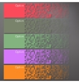 set colorful pixel banners vector image