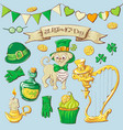 set of leprechaun characters poses eps10 vector image vector image