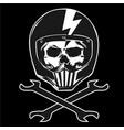 skull wrench helmet vector image