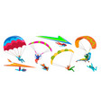 skydivers skydiving adventure people jump with vector image vector image