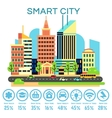 smart city concept with business technology vector image vector image