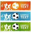 soccer ball or football banners vector image vector image