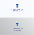 T-brand letter module grid logo vector image vector image