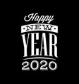template with congratulation for new 2020 year vector image vector image