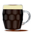traditional pint of beer vector image vector image