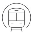 train thin line icon railway and travel subway vector image