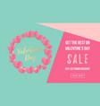 valentines day sale poster or banner valentine vector image