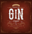 vintage london gin label for bottle vector image