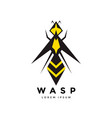 wasp insect logo or icon design vector image