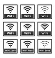 wireless signs set wifi icons vector image