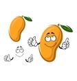 Yellow ripe cartoon mango fruit vector image vector image