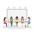 young businesswomen meeting vector image