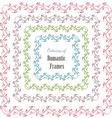 floral set a frames for your design vector image