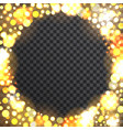 bokeh round frame on transparent background vector image