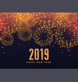 2019 happy new year fireworks background vector image vector image