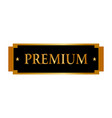 abstract premium label vector image