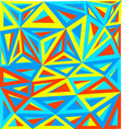 Abstract triangle art vector image vector image