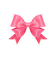 adorable pink double ribbon bow design element vector image