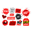 advertising insignias set sale banners elements vector image