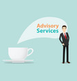 advisory services concept business service with vector image vector image