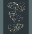 airport tow tractor blueprints