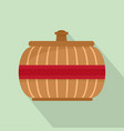 asia vase icon flat style vector image