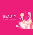 beauty background fashion abstract formless vector image vector image