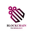 blockchain cryptocurrency logo modern computer vector image vector image