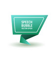 bubble speech blue vector image