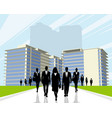 business people outdoors vector image vector image
