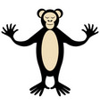 cartoon cute monkey posing vector image