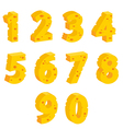 Cheese decorative numbers vector image vector image